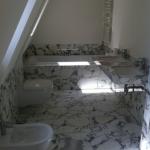 Arabescato tegel badkamer, Tetterode Natuursteen